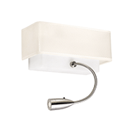 Lampe carrée blanche